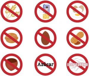 etiquetas alergias stikets