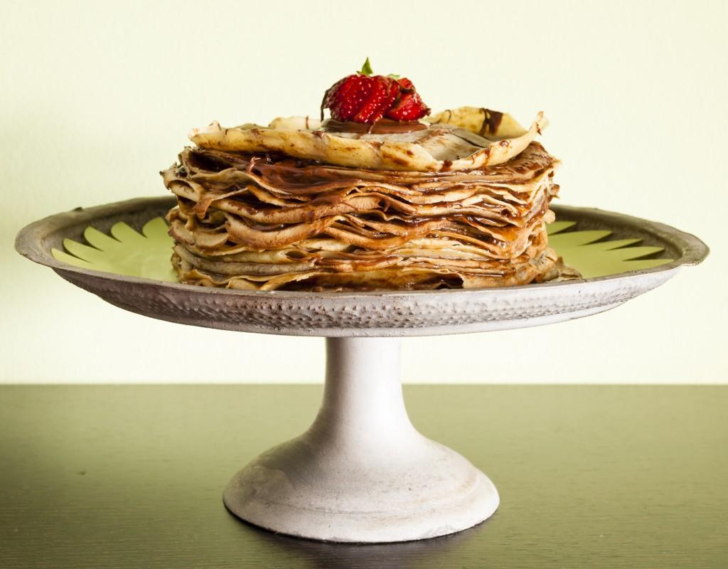 receta pastel crepes para niños