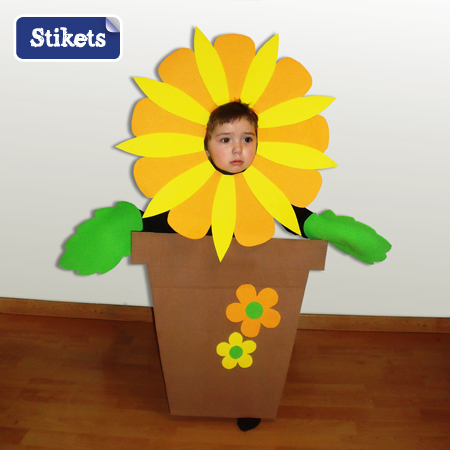 disfraz macena con flor