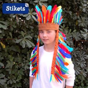 disfraz indio casero