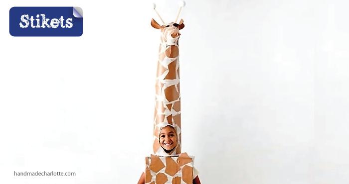 Mascaras de cartón.girafa