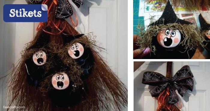 Cómo hacer un disfraz de bruja.Escoba de bruja
