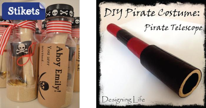 Cómo hacer un disfraz de pirata. Botella iy catalejo
