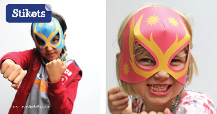 Mascaras de cartón.superheroes