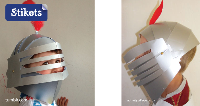 Mascaras de cartón.San-Jorge