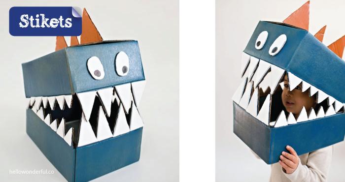 Mascaras de cartón.Monstruos