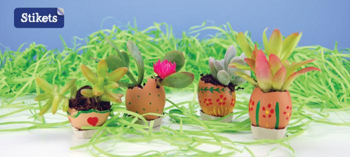 Manualidad de Pascua. huevos pintados