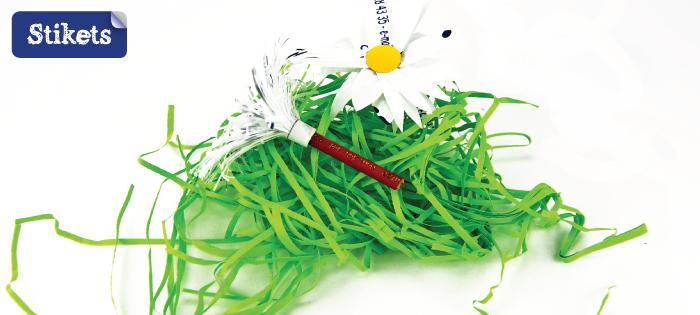 Manualidad para reciclar. Centro de mesa de Pascua