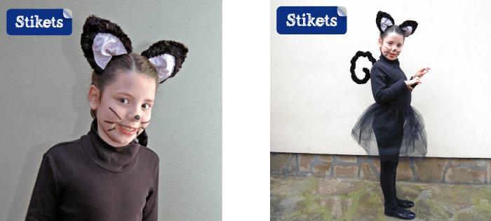 niña disfrazada de gatita