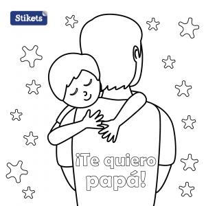 Día del padre niño. Te quiero papá