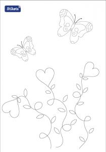 Colorear Pascua - Mariposas