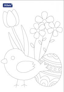 Colorear Pascua - Primavera