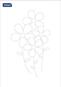 Colorear Pascua - Flores