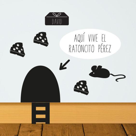 Vinilo del ratoncito Pérez personalizable
