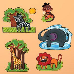 Vinilo animales de la selva