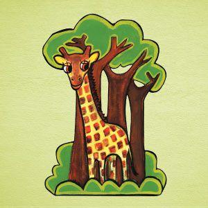Vinilo jirafa