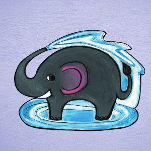 Vinilo elefante