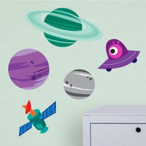 Vinilo infantil planetas