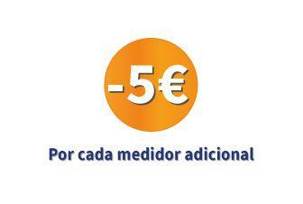 5€ de descuento por cada medidor adicional