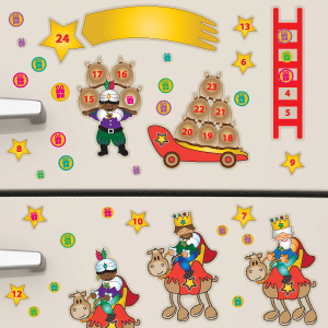 Vinilo calendario de adviento de los Reyes Magos