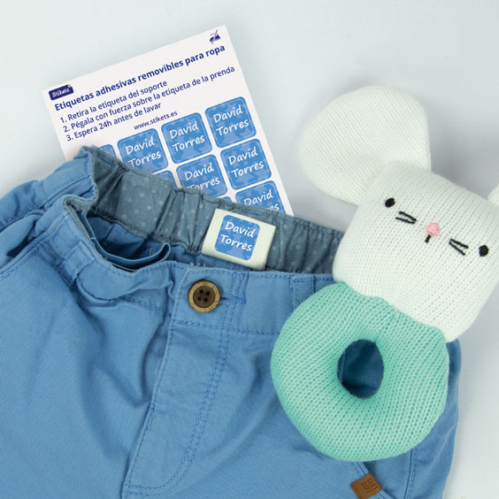 Etiquetas para ropa adhesivas
