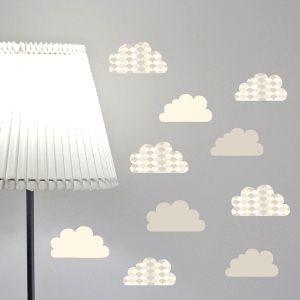 Vinilo de nubes ceniza con tejas
