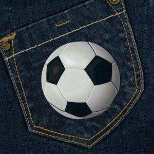 Parche de pelotas de futbol para ropa