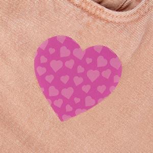 Parche de corazón para ropa