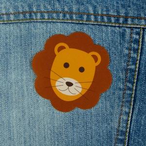 Parche de león para ropa