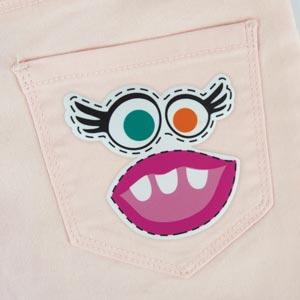Parche de monstruo niña para ropa