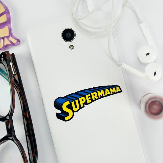 Pegatina Supermama para móvil