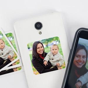 Pegatinas con foto para móvil (8 uds)