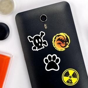 Pegatinas de símbolos para móvil