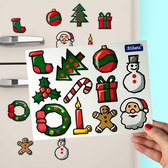 Vinilo de motivos navideños