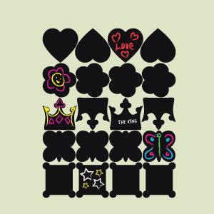 Etiquetas de pizarra colección princesa