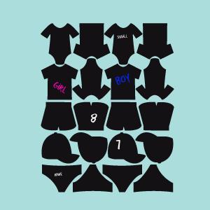 Etiquetas de pizarra colección vestidos